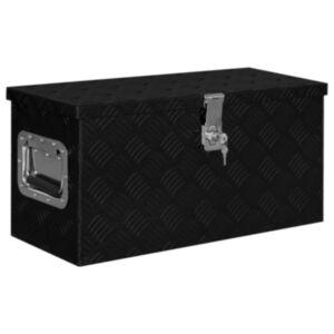 Pood24 alumiiniumist kast 61,5 x 26,5 x 30 cm, must
