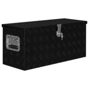 Pood24 alumiiniumist kast 80 x 30 x 35 cm, must