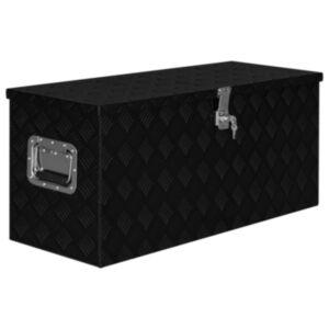 Pood24 alumiiniumist kast 90,5 x 35 x 40 cm, must