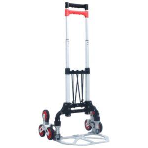 Pood24 kokkupandav treppide transpordikäru 70 kg, alumiinium, hõbedane