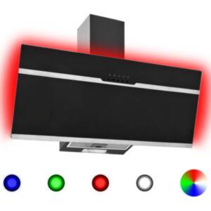 Pood24 RGB pliidikubu LED 90 cm roostevaba teras ja karastatud klaas