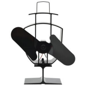 Pood24 soojusenergial põhinev ahjuventilaator 2 labaga, must