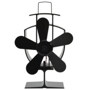 Pood24 soojusenergial põhinev ahjuventilaator 5 labaga, must