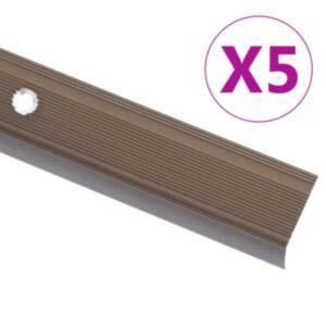Pood24 trepikaitsmed L-kujulised 5 tk, alumiinium, 90 cm, pruun