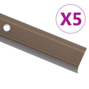 Pood24 trepikaitsmed L-kujulised 5 tk, alumiinium, 134 cm, pruun
