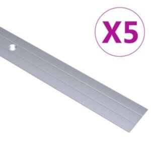 Pood24 põrandaprofiilid 5 tk, alumiinium, 100 cm, hõbedane