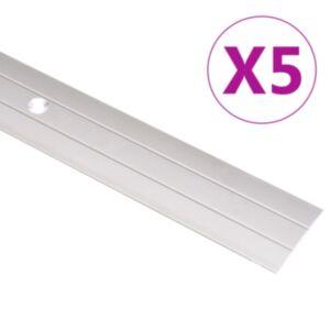 Pood24 põrandaprofiilid 5 tk, alumiinium, 134 cm, kuldne