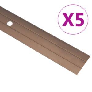 Pood24 põrandaprofiilid 5 tk, alumiinium, 134 cm, pruun
