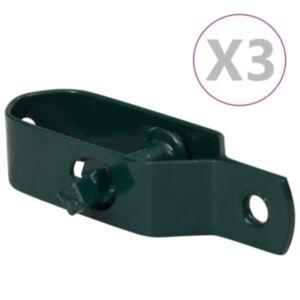 Pood24 piirdeaia pingutid 3 tk 100 mm terasest roheline