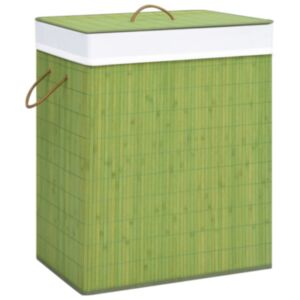 Pood24 bambusest pesukorv, roheline, 83 l
