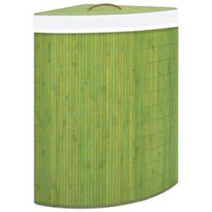 Pood24 bambusest nurga pesukorv, roheline, 60 l