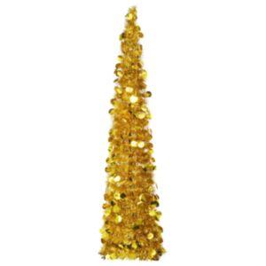 Pood24 pop-up kunstkuusk, kuldne 150 cm PET