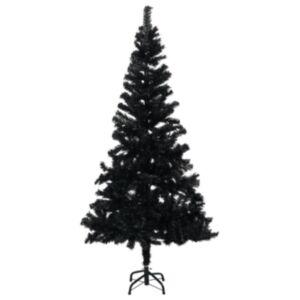 Pood24 kunstkuusk alusega, must, 150 cm, PVC