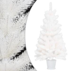 Pood24 kunstkuusk potiga, valge, 65 cm, PE