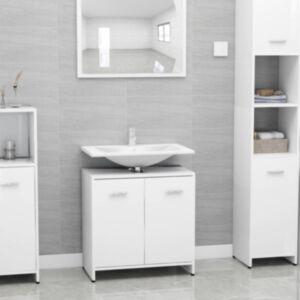 Pood24 vannitoakapp valge 60 x 33 x 58 cm puitlaastplaat