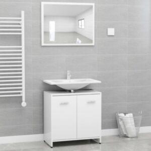 Pood24 vannitoamööbli komplekt, valge, puitlaastplaat