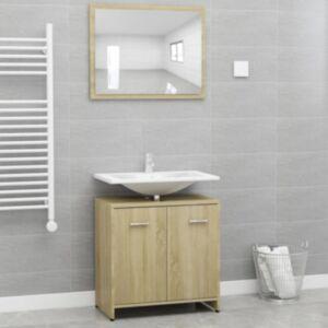 Pood24 vannitoamööbli komplekt, Sonoma tamm, puitlaastplaat