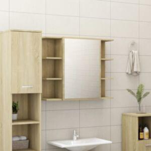 Pood24 vannitoa peeglikapp Sonoma tamm 80x20,5x64 cm puitlaastplaat