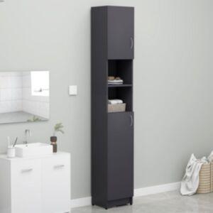 Pood24 pesumasinakapp, hall, 32 x 25,5 x 190 cm, puitlaastplaat