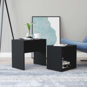 Pood24 kohvilaudade komplekt, must, 48 x 30 x 45 cm puitlaastplaat