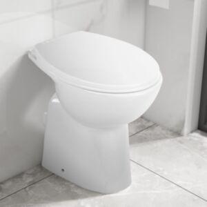 Pood24 kõrge ääreta keraamiline tualettpott, 7 cm kõrgem, valge