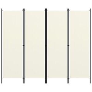 Pood24 4 paneeliga ruumijagaja, kreemjasvalge, 200 x 180 cm