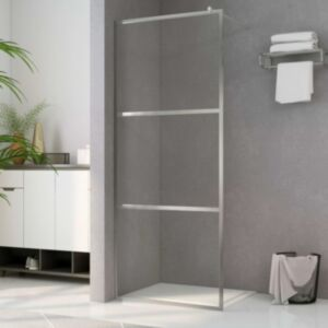 Pood24 dušinurga sein, läbipaistev ESG-klaas, 100 x 195 cm