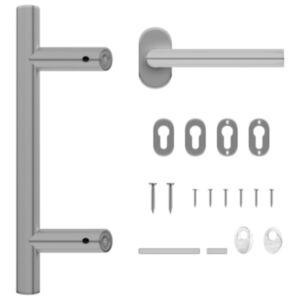Pood24 ukselingi ja ukseraami komplekt 350 mm roostevabast terasest