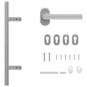 Pood24 ukselingi ja ukseraami komplekt PZ 500 mm roostevabast terasest