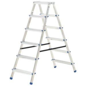 Pood24 alumiiniumist kahepoolne redel, 6 astet, 136 cm