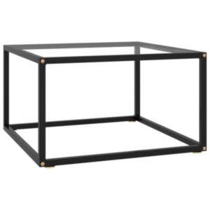 Pood24 teelaud, must, karastatud klaas, 60 x 60 x 35 cm