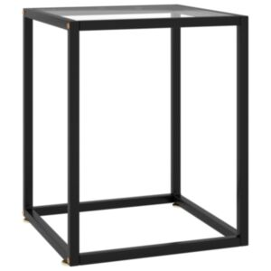 Pood24 teelaud, must, karastatud klaas, 40 x 40 x 50 cm