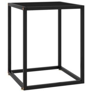 Pood24 teelaud, must, must klaas, 40 x 40 x 50 cm