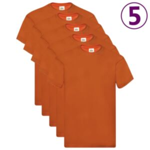 Fruit of the Loom T-särgid, 5 tk, oranž, XXL, puuvill