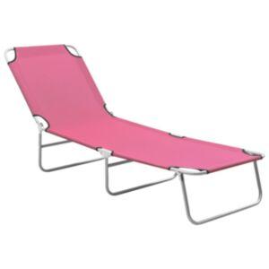 Pood24 kokkupandav lamamistool, teras ja kangas, roosa