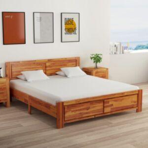 Pood24 kahe öökapiga akaatsiapuidust voodiraam 160 x 200 cm