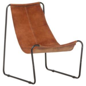 Pood24 lõõgastav tool, pruun, ehtne nahk