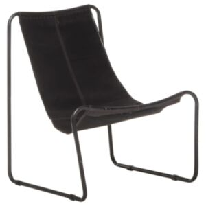 Pood24 lõõgastav tool, must, nahk