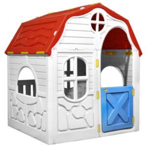 Pood24 laste kokkupandav mängumaja töötava ukse ja akendega