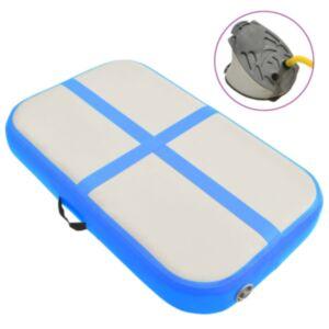 Pood24 täispumbatav võimlemismatt pumbaga 60x100x10 cm PVC sinine