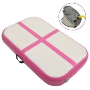 Pood24 täispumbatav võimlemismatt pumbaga 60x100x15 cm PVC roosa