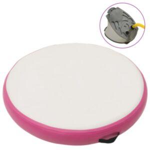Pood24 täispumbatav võimlemismatt pumbaga 100x100x15 cm PVC roosa