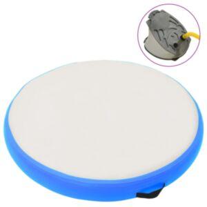 Pood24 täispumbatav võimlemismatt pumbaga 100x100x15 cm PVC sinine