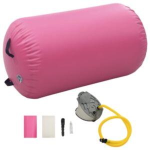 Pood24 täispumbatav võimlemisrull pumbaga 100x60 cm PVC roosa