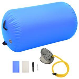 Pood24 täispumbatav võimlemisrull pumbaga 100x60 cm PVC sinine