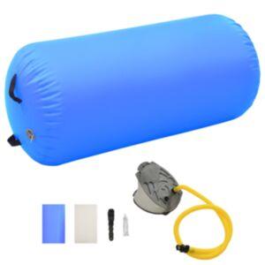 Pood24 täispumbatav võimlemisrull pumbaga 120x75 cm PVC sinine