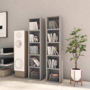 Pood24 CD-kapid 2 tk, hall 21 x 16 x 93,5 cm, puitlaastplaat