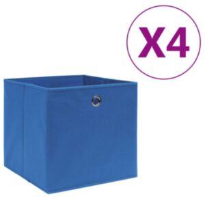 Pood24 mittekootud kangast hoiukastid 4 tk, 28 x 28 x 28 cm, sinine
