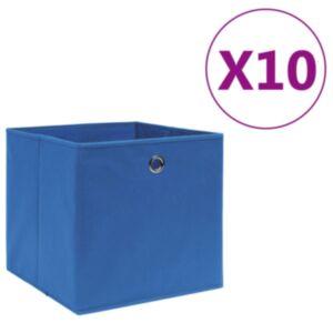 Pood24 mittekootud kangast hoiukastid 10 tk, 28 x 28 x 28 cm, sinine