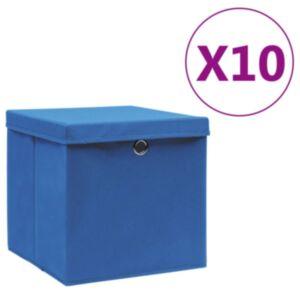 Pood24 hoiukastid kaanega 10 tk, 28 x 28 x 28 cm, sinine